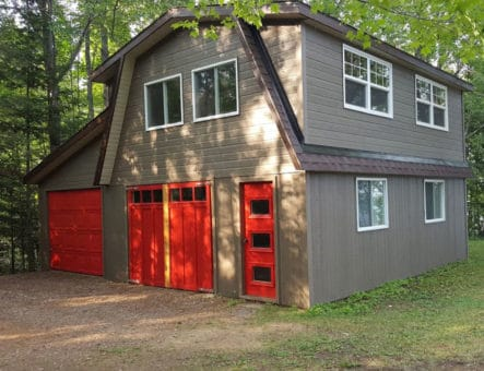 exterior photo of newly renovated garage